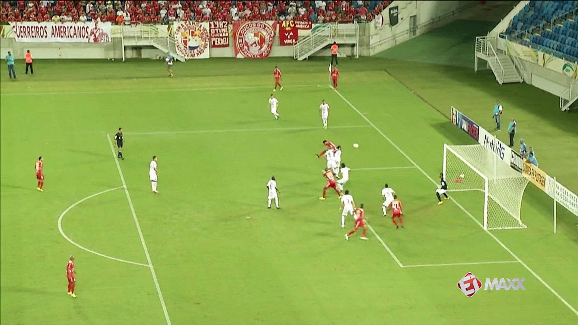 É gol! Adriano Pardal, de cabeça,  empata para o América-RN diante do Vila Nova