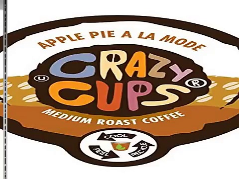 New Crazy Cups Apple A La Mode Flavored Coffee Single Serve Cups Best