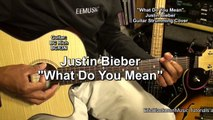 Justin Bieber WHAT DO YOU MEAN Acoustic Guitar Cover EricBlackmonMusicHD