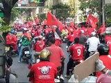 Red shirts on Silom Road, Bangkok, March 20th 2010