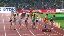 Jamaica Defeats USA to win womens 4x400m Final World Champs 2015