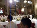 Inicio Misa Crismal 2012 en Catedral de Santiago de Chile.