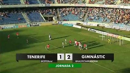 El CD Tenerife se consolida como colista al perder con el Gimnástic de Tarragona (1-2)