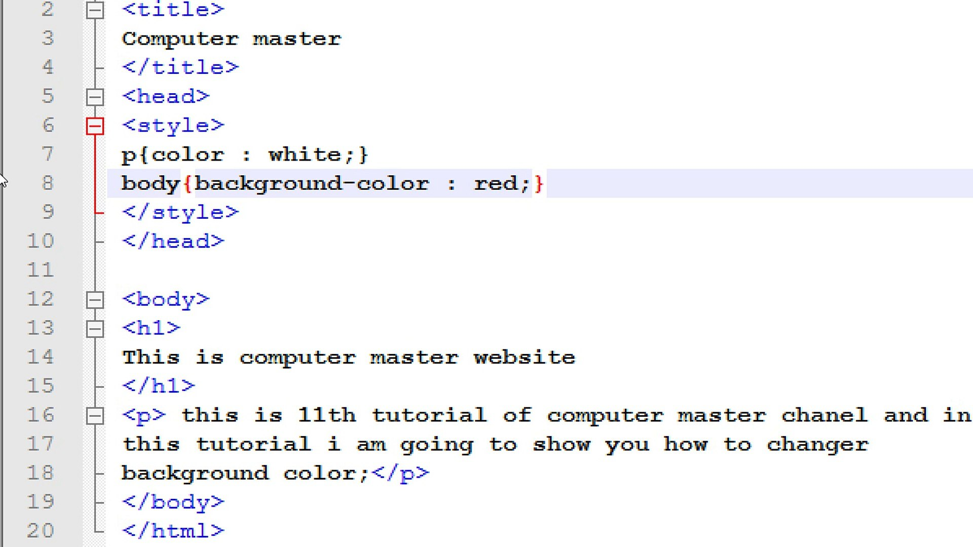 how to create a website in html using notepad adding background color and  image tutorial 20 20