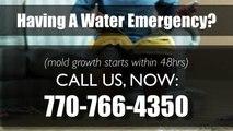 Emergency Water Damage Restoration Woodstock, GA 770-766-4350 (Mold Experts)