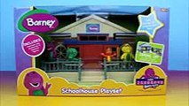 barney friends schoolhouse playset disney pixar cars lightning mcqueen mater crash into barney pre r
