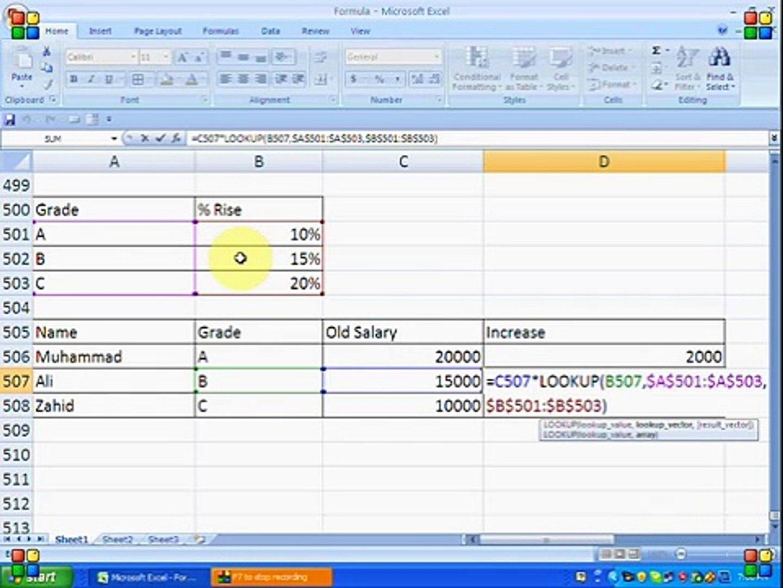 How to find percentage in Ms Excel Formulas Urdu/Hindi Tutorials   Part 20