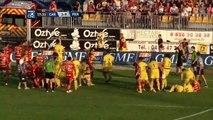 Carcassonne - Perpignan (Rugby) : grosse bagarre générale