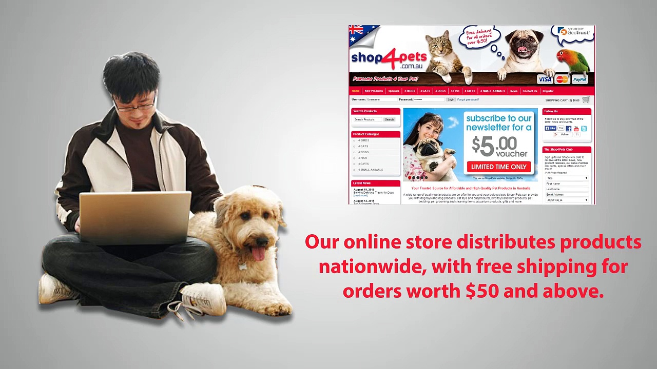 Shop4Pets For Pet Accessory Shopping on the Go