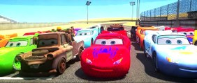 16  Disney Pixar Cars Lightning Mcqueen race with Rayo Dinoco Spiderman Macqueen Mater Batman Hulk