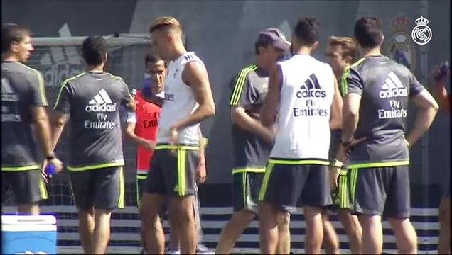 Real Madrid train again at Ciudad Real Madrid _ Nuevo entrenamiento en la Ciudad Real Madrid