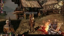 50 Let's play Dragon Age Origins game. Demon in Castle Redcliffe. Lady Isolde escapes to warn us.