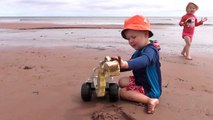 PEI BEACHES | PEI FAMILY VACATION | KIDS TRUCKS ON BEACH | PRINCE EDWARD ISLAND