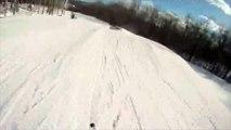 Skiing with gopro helmet cam @ mount snow 12/12/09