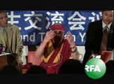 HH the Dalai Lama addressed Tibetan and Chinese students Hunter college