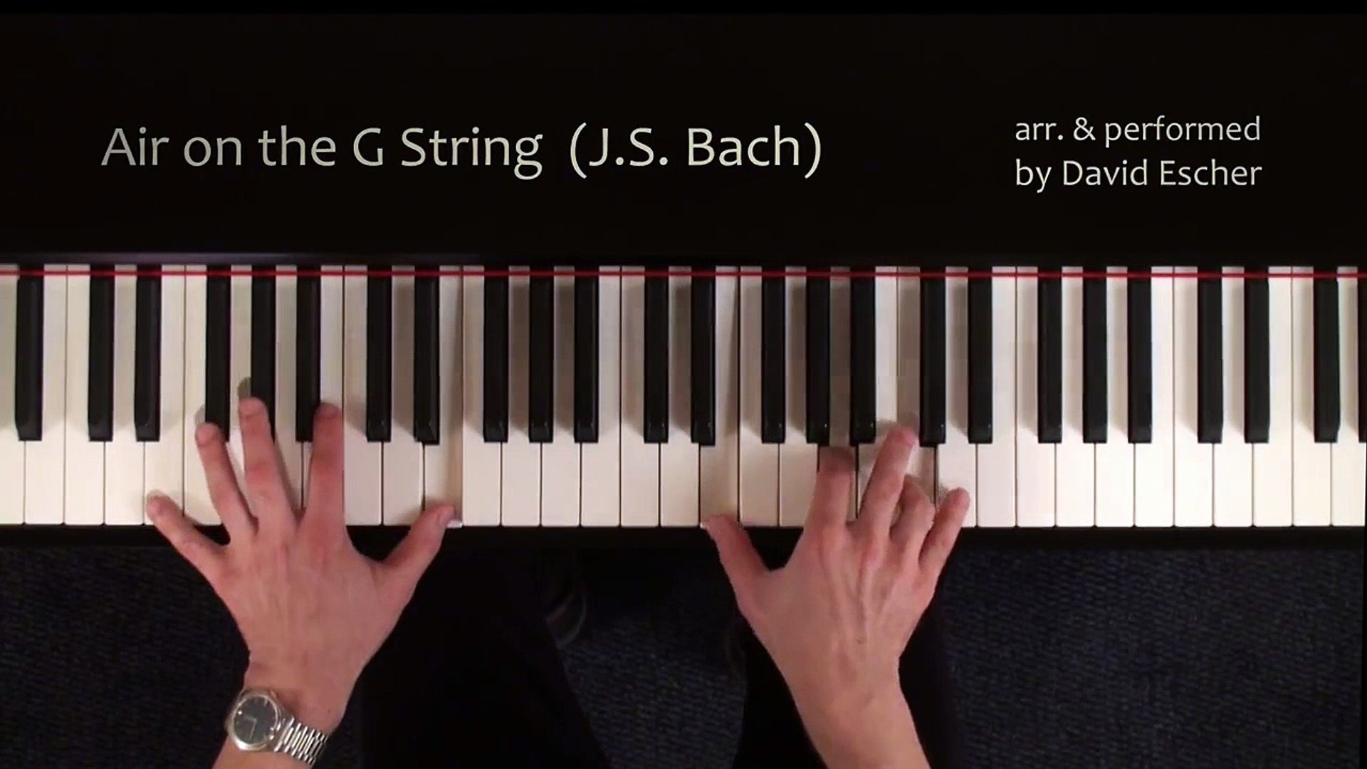 Air on the G String (J S  Bach) - Piano - Tutorial view