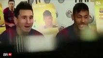 Messi, Neymar y Munir se ríen a carcajadas de Dani Alves