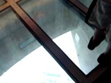 CN Tower Toronto Canada: The Glass Floor (scary!)