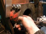 Horizontal Boring machine machining bore in connecting-rods from metal guillotine part1