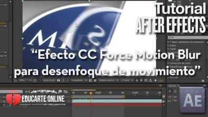 Efecto CC Force Motion Blur para desenfoque de movimiento - Tutorial After Effects