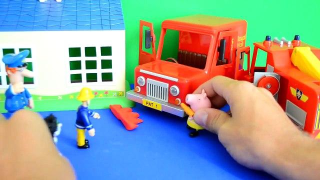 Fireman Sam Episode Peppa Pig Play doh Postman pat Van Fire Fire Engine  Story WOW