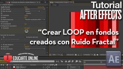 Crear loop en fondos creados con Ruido Fractal - Tutorial After Effects