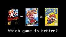 Super Mario Bros. vs Super Mario Bros. 2 vs Super Mario Bros. 3