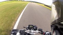Fz1-N ABS & Gsx-R 750 !!Crash 6:20!!  on Bresse Race Track having Fun