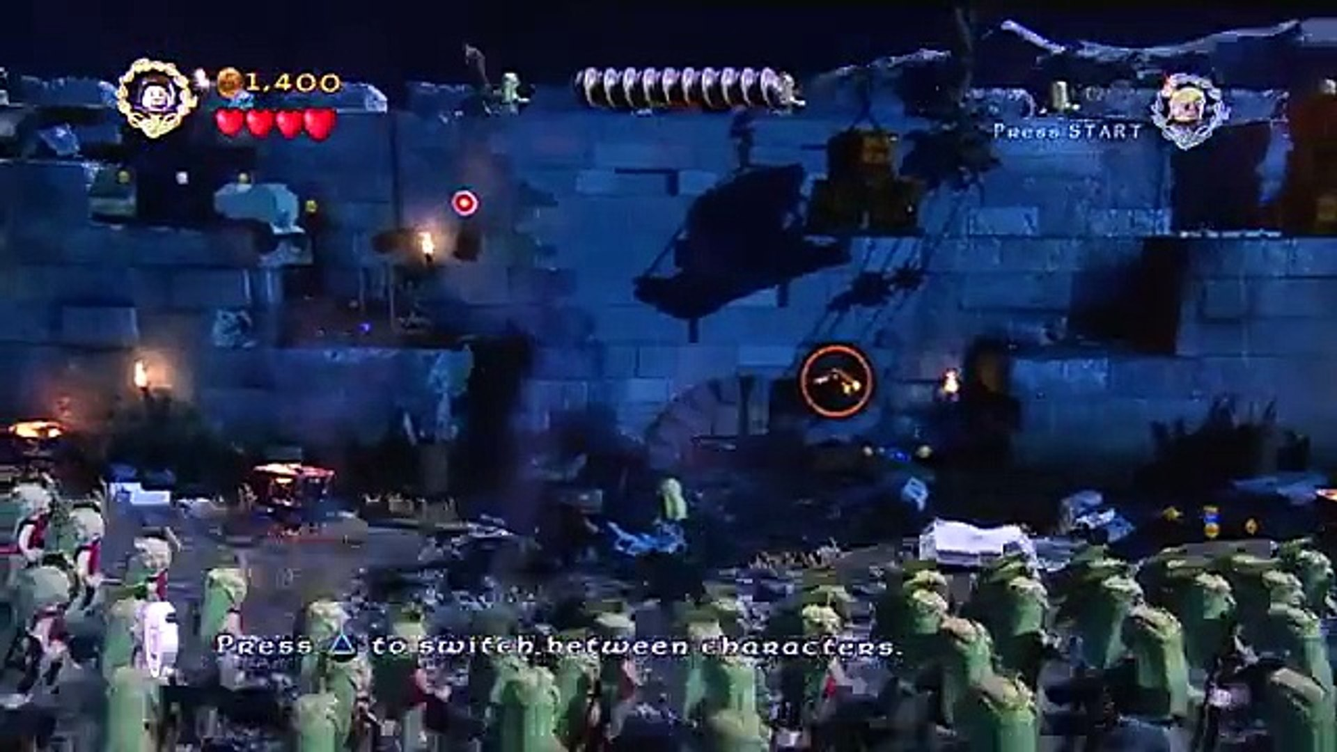 Lego Lord Of the Rings Gamescom 2012 Helms Deep Gameplay