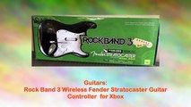 Rock Band 3 Wireless Fender Stratocaster Guitar Controller for Xbox