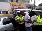 Jamaican Police Ruffing up civilian in HWT (sept 9 2013) Pt. 1