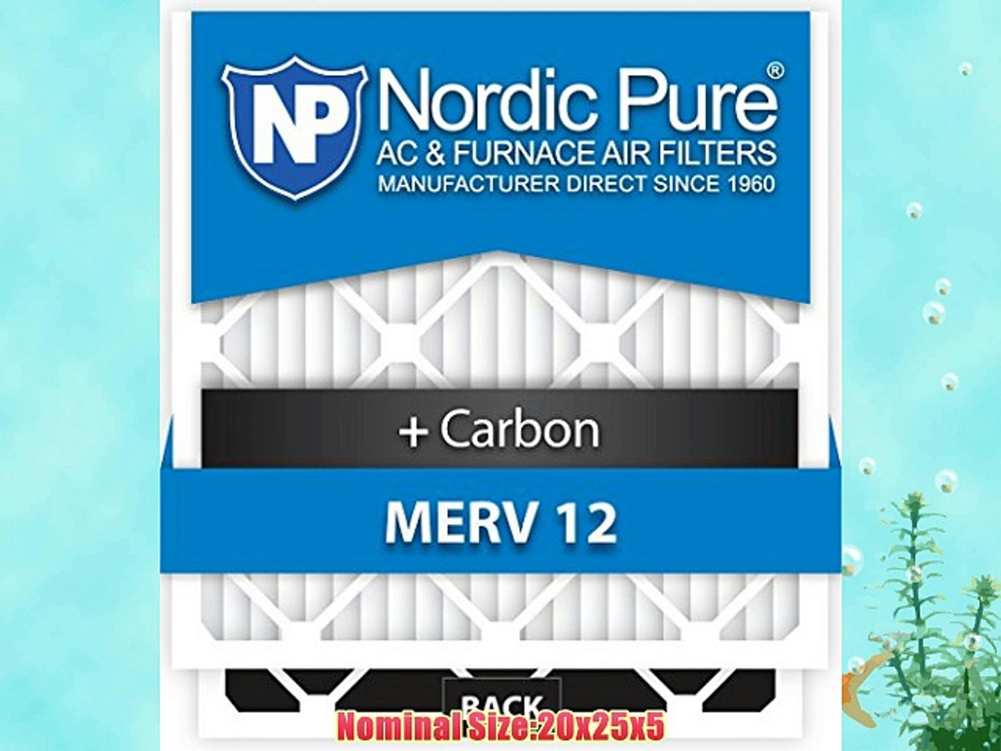 Nordic Pure 18x25x1 MPR 1900 Healthy Living Maximum Allergen Reduction Replacement AC Furnace Air Filters 3 Pack