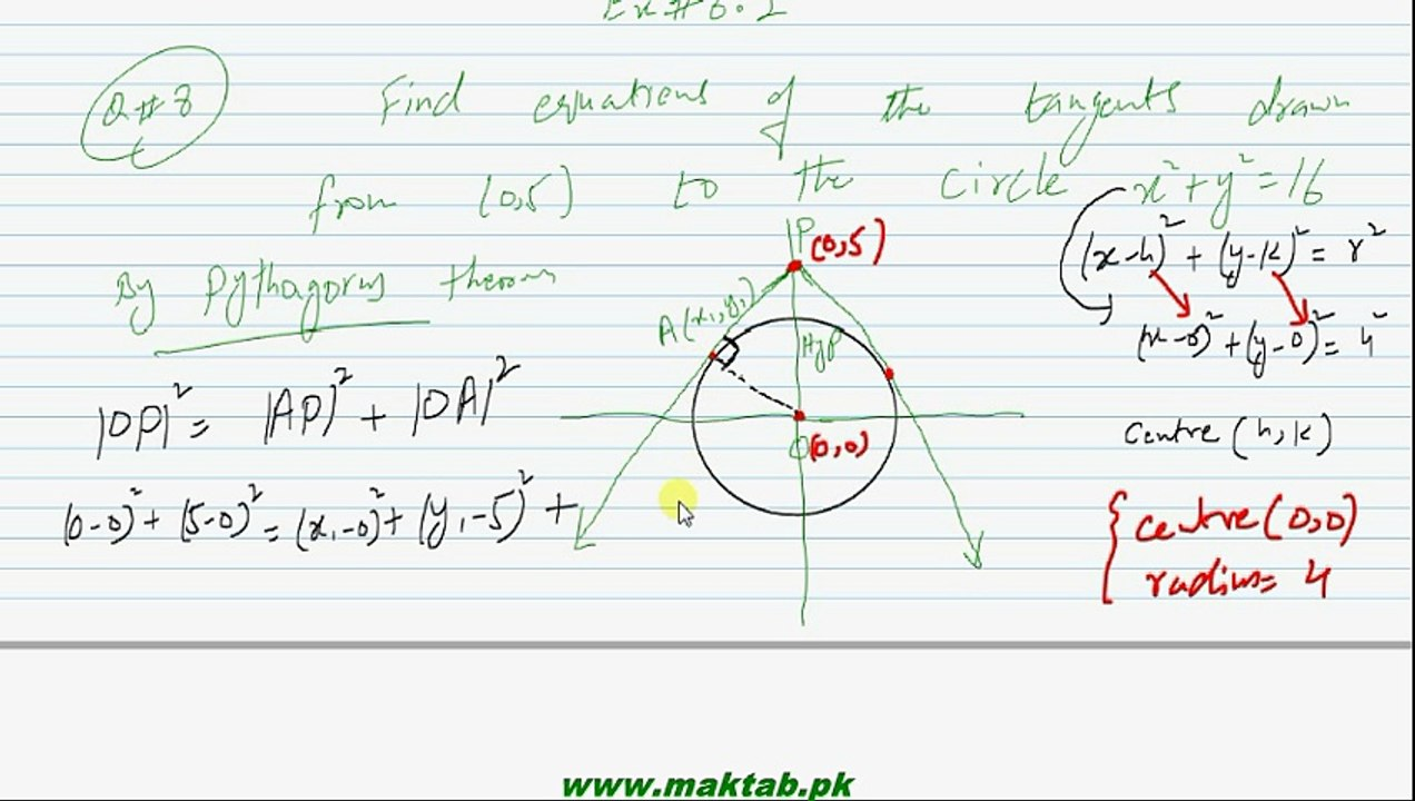 FSc Math Book2, Ex 6 2, LEC 19