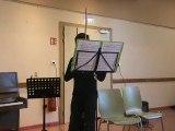 M2U01997 solo de Violon, Presto de Bach, fete de la musique à Scy Chazelles le 21 06 2015