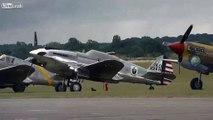 WW2 Bristol Blenheim bomber at Flying Legends