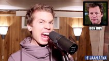 Talented singer impersonating more than 25 singers voices on great pop songs