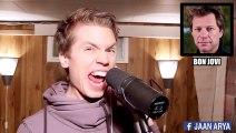 Ce chanteur enchaine plus de 25 tubes en imitant la voix des chanteurs - Impressionnant!