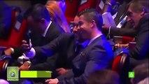 Cristiano Ronaldo And Lionel Messi Funny Selfie At UEFA Europe Award Ceremoney 2015