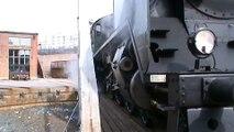 Steam locomotive Hr1 1009 Pasila rail yard turntable. Hr1 1009 Pasilan alapihan kääntöpöydällä