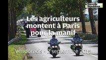 VIDEO. En route vers la manif, les tracteurs traversent le Loir-et-Cher
