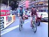 Alonso around Monaco by bike