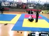 Moment when 15 years old  Jiu Jitsu competitor has neck broken.