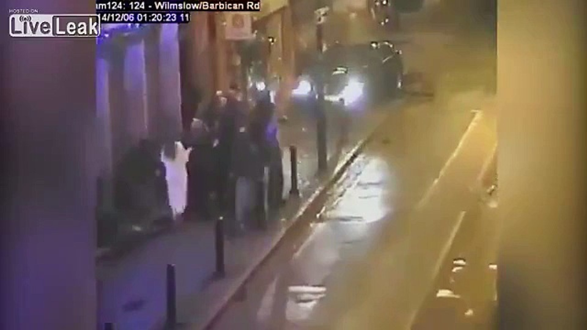 Shocking moment. Drunk driver ploughs into young woman in botched revenge attack