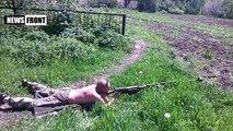 PTRS anti-tank rifle of the 1st Slavic Battalion in DPR