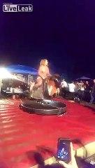 Titties Bouncing On A Mechanical Bull At Bike Week 2015