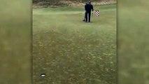 Champion Golfer Bubba Watson Sinks Amazing Back-To-Hole Putt