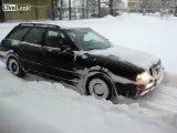 Audi 80 Quattro winter. Audi quattro is snow