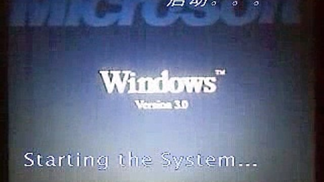 Windows 3.0 running on my ThinkPad R60