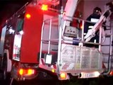 Greek Emergency Vehicles Responding Structure Fire and Rescue Operation Code 3 and Code 0