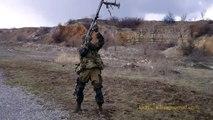 ~·★ BRUTAL ★·~ 1st Slavyansk brigade militia shoulder firing PTRS AT rifle